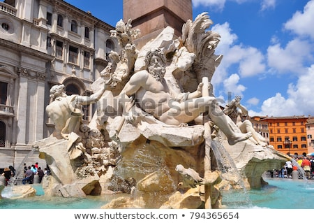 piazza navona rome italy fountain of the four rivers stock photo © photocreo