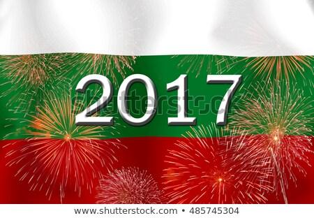 nagrobek · cmentarz · Bułgaria · starych · wyblakły · banderą - zdjęcia stock © imaster