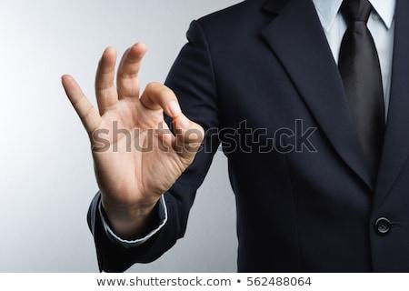 Zakenman hand signaal illustratie witte man Stockfoto © bluering