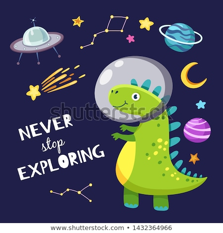 astronauta · caminhada · lua · ilustração · paisagem · fundo - foto stock © bluering