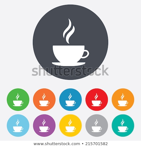 Colourful rounded buttons with cups of tea Stock photo © bluering