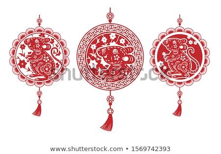 Chinesisch dekoriert Illustration Frau vorliegenden Kultur Stock foto © adrenalina
