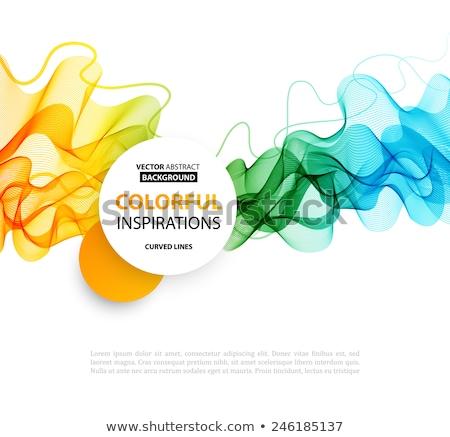 stylish blue presentation brochure leaflet design in abstract sh Stock photo © SArts