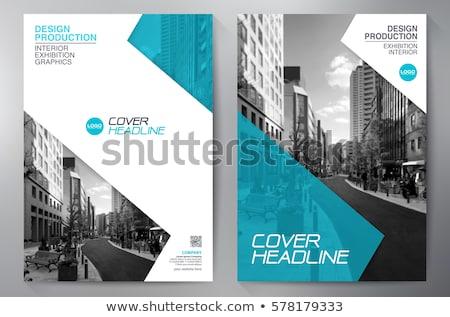 üzlet prospektus brosúra sablon cég marketing Stock fotó © SArts