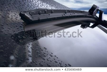 лезвия · автомобилей · стекла · капли · воды · мелкий · снега - Сток-фото © Phantom1311