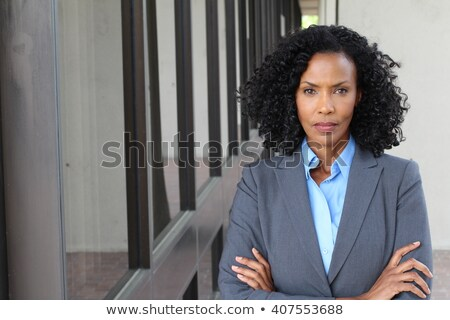 Tough African American Businesswoman Crossed Arms Stock photo © Qingwa