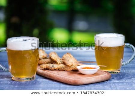 Bögre sör felső kilátás izolált fehér Stock fotó © Cipariss
