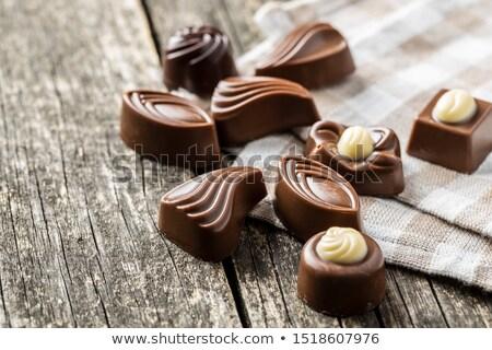 csokoládé · szett · cukorkák · izolált · fehér · étel - stock fotó © digifoodstock