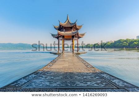 Architectuur chinese structuur theater hout natuur Stockfoto © tito