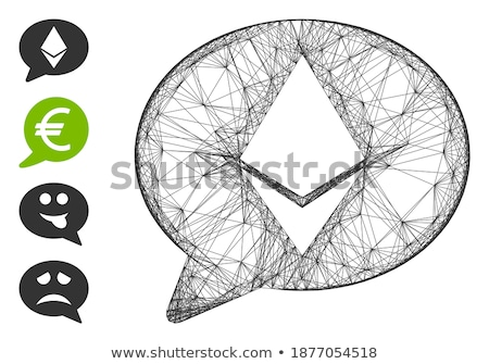 Ethereum Message Balloon Flat Icon Stock photo © ahasoft
