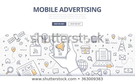 Mobile Geo Technology - Business Concept. Stock photo © tashatuvango