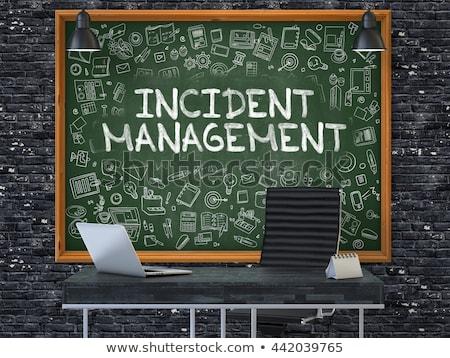 Hand Drawn Incident Management on Green Chalkboard. Stock photo © tashatuvango