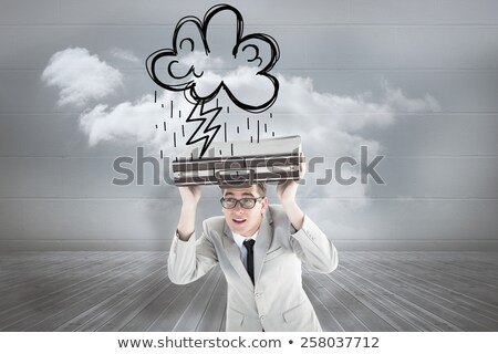 Imprenditore fulmini testa pensieroso Foto d'archivio © RAStudio