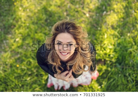 Girl smiling from high angle Stock photo © IS2