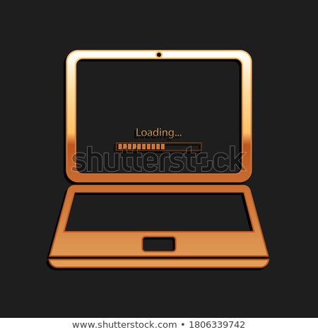 Wolk software gouden versnellingen technische ontwerp Stockfoto © tashatuvango