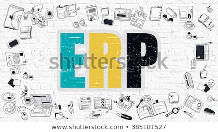 Sales Plan Concept. Multicolor on White Brickwall. Stock photo © tashatuvango