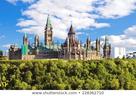 Parlement gebouw Ottawa ontario Canada stad Stockfoto © benkrut