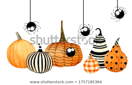 Pumpkin, watercolor and Halloween Stock photo © Ustofre9