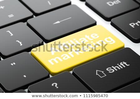 Estrategia de negocios texto amarillo teclado clave 3D Foto stock © tashatuvango