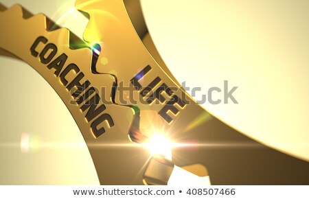 Life Coaching - Mechanism of Metallic Cogwheels . 3D . Stock photo © tashatuvango