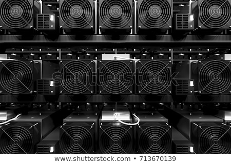 Mining ASIC rig to mine for digital cryptocurrency Stock photo © kyolshin