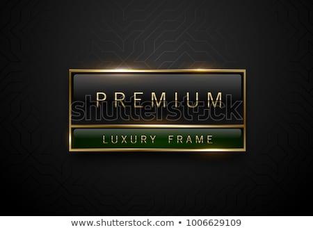 Prêmio produto preto verde etiqueta dourado Foto stock © Iaroslava