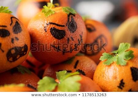 カボチャ クローズアップ 面白い 顔 パーティ フルーツ ストックフォト © nito