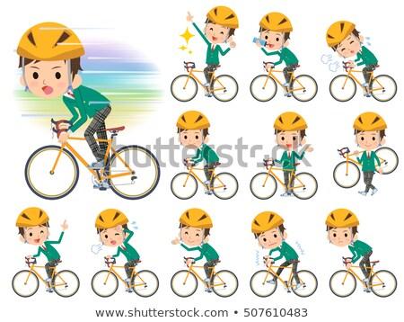 男子生徒 緑 ブレザー 自転車 セット ストックフォト © toyotoyo
