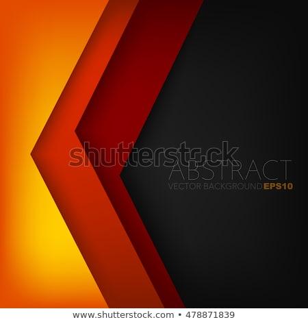 оранжевый черный футуристический углу форма вектора Сток-фото © cidepix