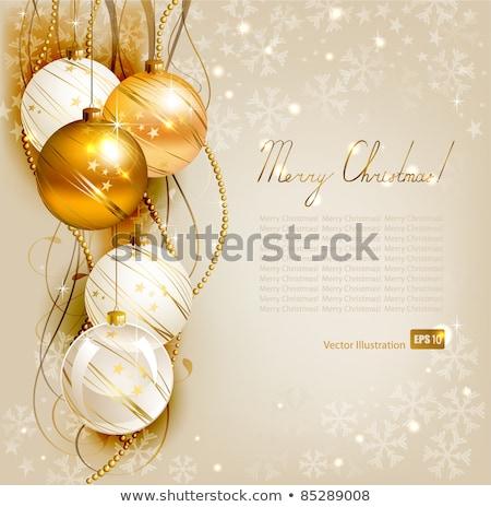 Alegre natal ilustração ouro estrela vidro Foto stock © articular