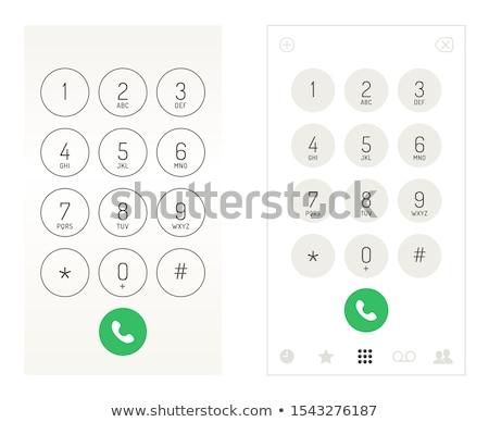 phone keypad app in touchscreen device, vector illustration isolated on modern background. Stock photo © kyryloff