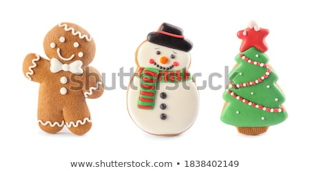 Snowman gingerbread cookie stock photo © fotogal