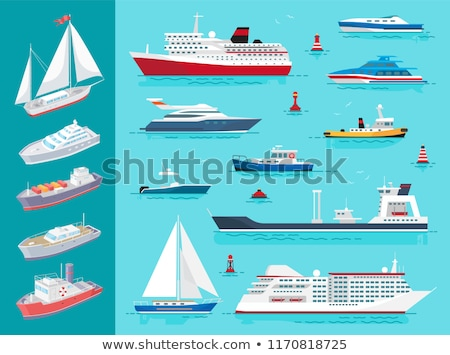 water transport ships traveling means set vector stock photo © robuart