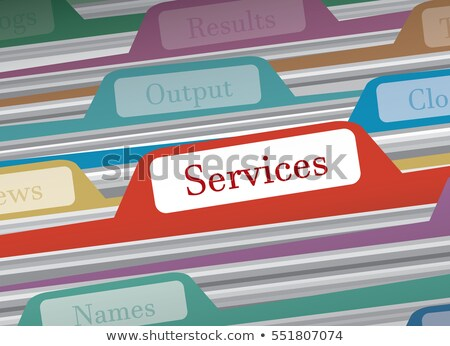 File folders with a tab labeled Employees Stock photo © Zerbor