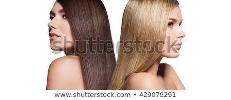young beautiful brunette and blond haired girls Stock photo © ruslanshramko