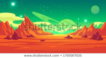 luna · superficie · ilustración · Cartoon · galaxia · lechoso - foto stock © colematt