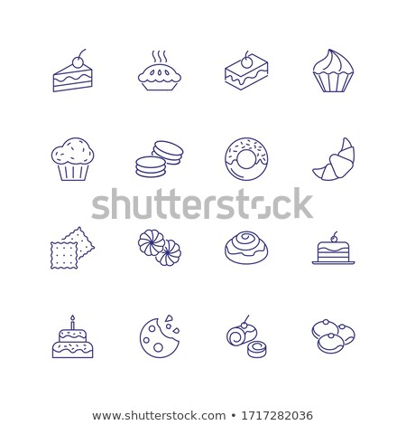 Confectionary flat concept icons Stock photo © netkov1