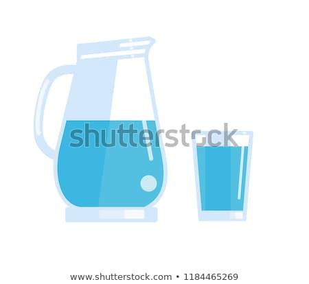vector set of water pitcher Stock photo © olllikeballoon
