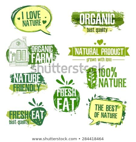 色 ヴィンテージ 自然食品 エンブレム ラベル バッジ ストックフォト © netkov1