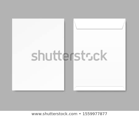 office paper documents and envelopes set vector stock photo © robuart