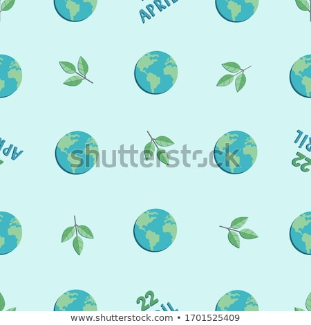 International Earth Day banner of paper leaves Stock photo © cienpies
