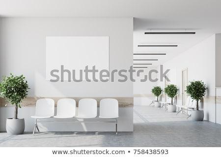 Vide salon d'attente chaises bureau porte passage Photo stock © albund