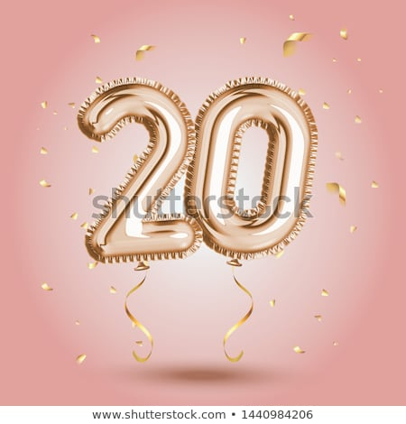 Background design with word congrats and colorful balloons Stock photo © colematt