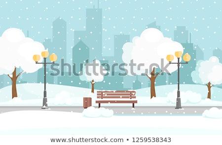 a road to big city in winter stock photo © colematt