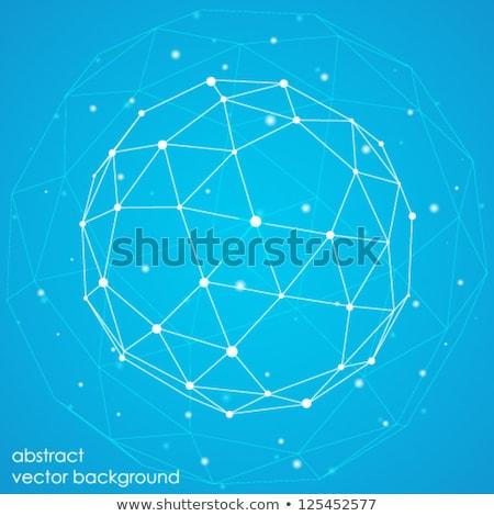 Abstrato vetor conectar círculo molecular estrutura Foto stock © designleo
