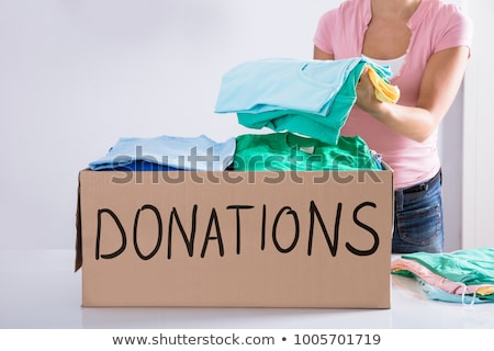 Clothes Inside Donation Box Stock photo © AndreyPopov
