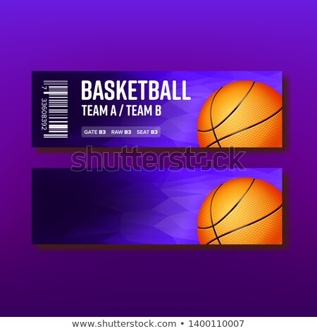 Colorato biglietto visitare basket modello vettore Foto d'archivio © pikepicture