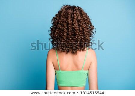Perm capelli set ragazza esercizio Foto d'archivio © toyotoyo