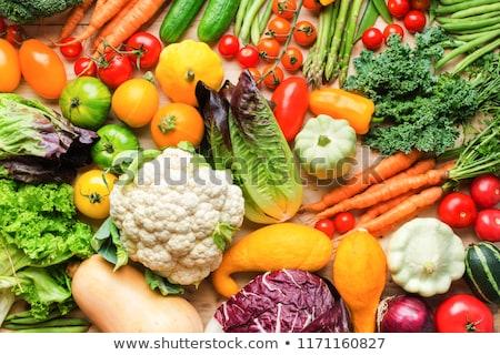 Amarillo calabacín lechuga verde chícharos vegetales Foto stock © romvo
