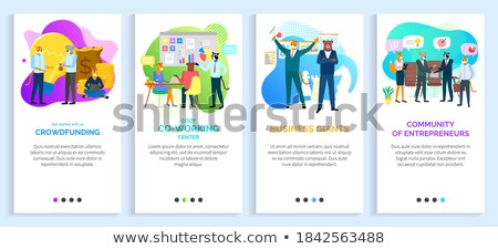 Business Giant and Cozy Coworking Center Website Stock photo © robuart
